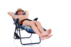 Relaxing man, vacation Stock Photography