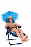 Relaxing man, vacation Royalty Free Stock Photo