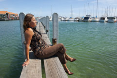 Relaxing at Marina Royalty Free Stock Photography