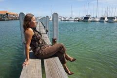Relaxing at Marina royalty free stock photography
