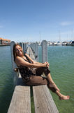 Relaxing at Marina Royalty Free Stock Images