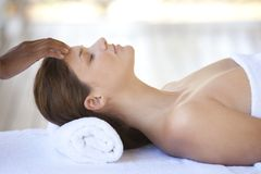 Relaxing massage Stock Photography