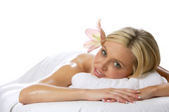 Relaxing after a massage Royalty Free Stock Image