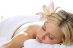 Relaxing after a massage Royalty Free Stock Images