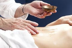 Relaxing massage to stimulate stomach