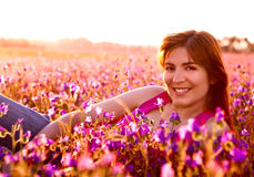 Relaxing on the meadow Stock Photography