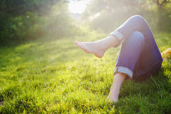 Relaxing in a meadow Royalty Free Stock Images