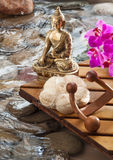Relaxing meditation for peaceful massage Stock Photo