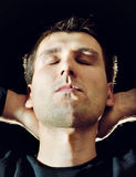Relaxing men stock photography