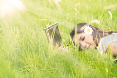 Relaxing moment in spring Stock Photography