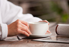 Relaxing morning time Royalty Free Stock Image