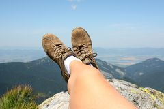 Relaxing in mountains Royalty Free Stock Image