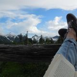 Relaxing at mt rainier national park Royalty Free Stock Photography