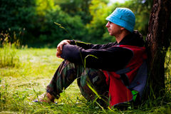 Relaxing in nature Royalty Free Stock Photography