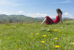 Relaxing in Nature Royalty Free Stock Photo