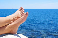 Relaxing near the ocean Royalty Free Stock Photography