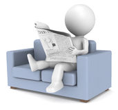 Relaxing News Stock Photography