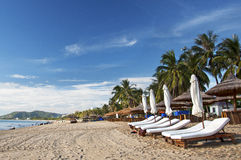 Relaxing Nha Trang Beach, Vietnam Royalty Free Stock Images