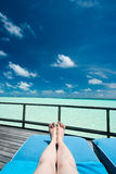 Relaxing at the Ocean Royalty Free Stock Image