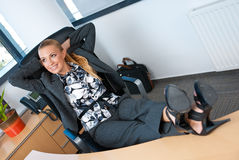 Relaxing in office Royalty Free Stock Images