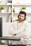 Relaxing at office Royalty Free Stock Images