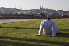 Relaxing in Oman Royalty Free Stock Image