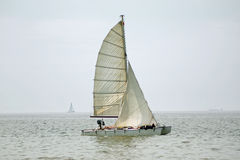 Free Relaxing On Boat With Sail Stock Images - 17141514