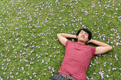 Free Relaxing On The Grass Stock Photos - 26008783