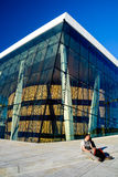 Relaxing at the Oslo Opera Stock Photography