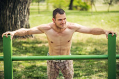 Relaxing In The Outdoor Gym Royalty Free Stock Photography