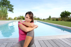Relaxing outside Royalty Free Stock Photos