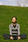 Relaxing outside Stock Images