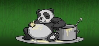 Relaxing Panda stock image