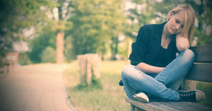 Relaxing in park Royalty Free Stock Photos