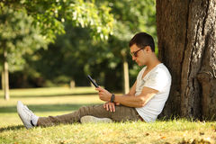 Relaxing in park Royalty Free Stock Photo