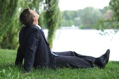 Relaxing in the park Royalty Free Stock Photography
