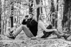 Relaxing in park together. Happy loving couple relaxing in park together. Couple in love tourists relaxing picnic stock photos