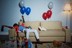 Relaxing after party Royalty Free Stock Photos