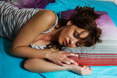 Relaxing and Peaceful Sleeping Woman Royalty Free Stock Photo