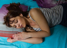 Relaxing and Peaceful Sleeping Woman Royalty Free Stock Photography