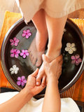 Relaxing pedicure Royalty Free Stock Image