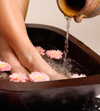 Relaxing pedispa Royalty Free Stock Photo
