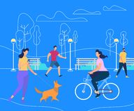 Relaxing People Summer Time Activity Lifestyle stock illustration
