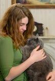 Relaxing with Pet Stock Photos