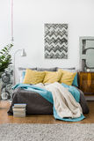 Relaxing place in contemporary house Royalty Free Stock Images