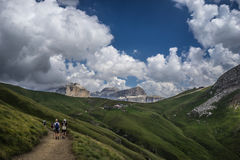 Relaxing places on Dolomites Stock Image