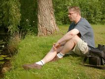 Relaxing at the pond. Stock Images