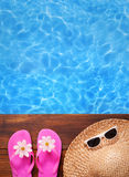 Relaxing in a pool Royalty Free Stock Image