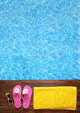 Relaxing in a pool Royalty Free Stock Photos