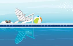 Relaxing by Pool Royalty Free Stock Photography